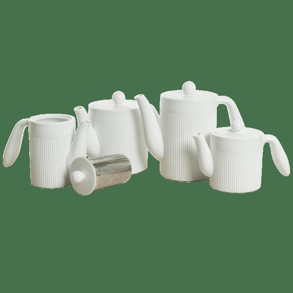 Victor & Victoria Plisse Collection Tea & Coffee Pots (17 oz, Small)