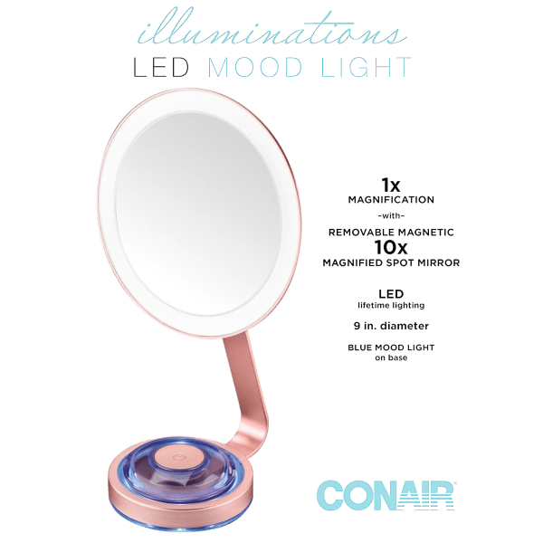 Conair LED 1X/10X Makeup Mirror
