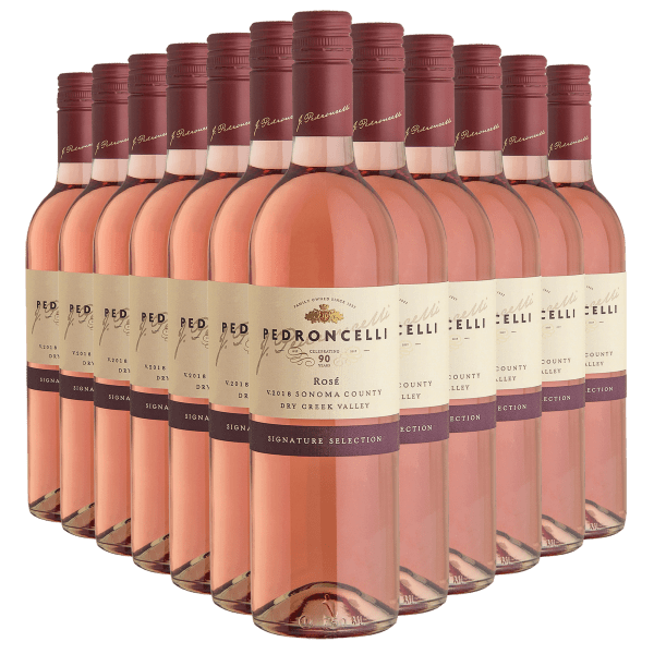 12-Bottles (1 Case) of Pedroncelli Rose Wine