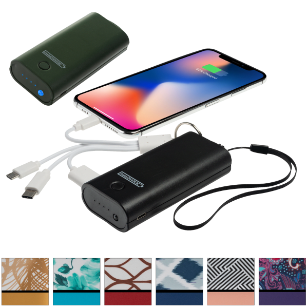 2-Pack InstaCharge 4000mAh Portable Power Bank