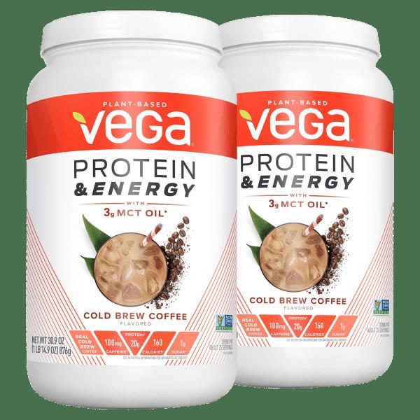 2-Pack VEGA Protein & Energy Coffee Protein Powder (3.86 lb Total)
