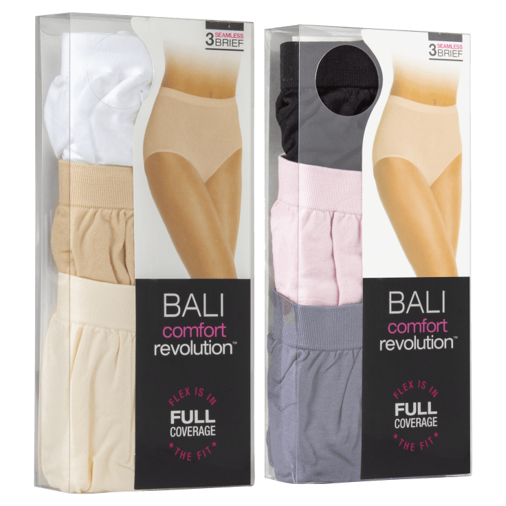 6-Pack Bali Comfort Revolution Seamless Full Coverage Briefs