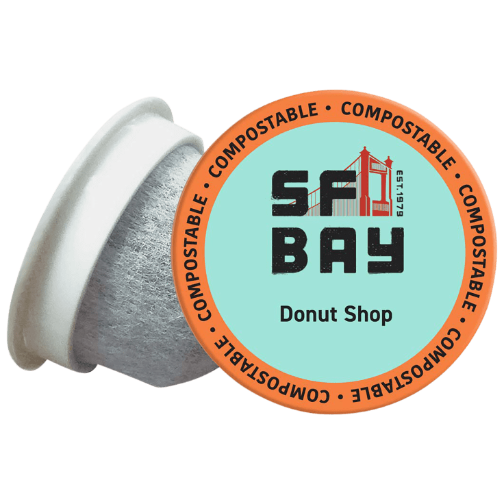 120-Count SF Bay Coffee Donut Light Roast Compostable K-Cup Coffee Pods