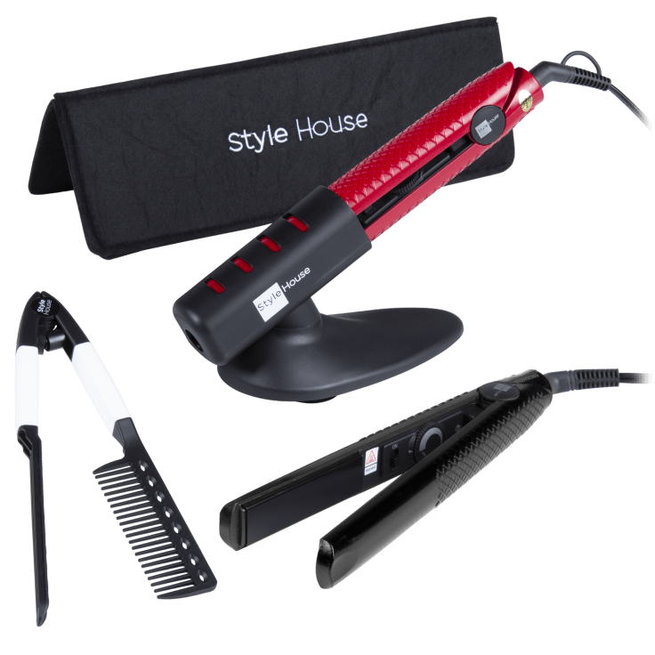 Style House Professional Ceramic Styling Iron with Accessory Set
