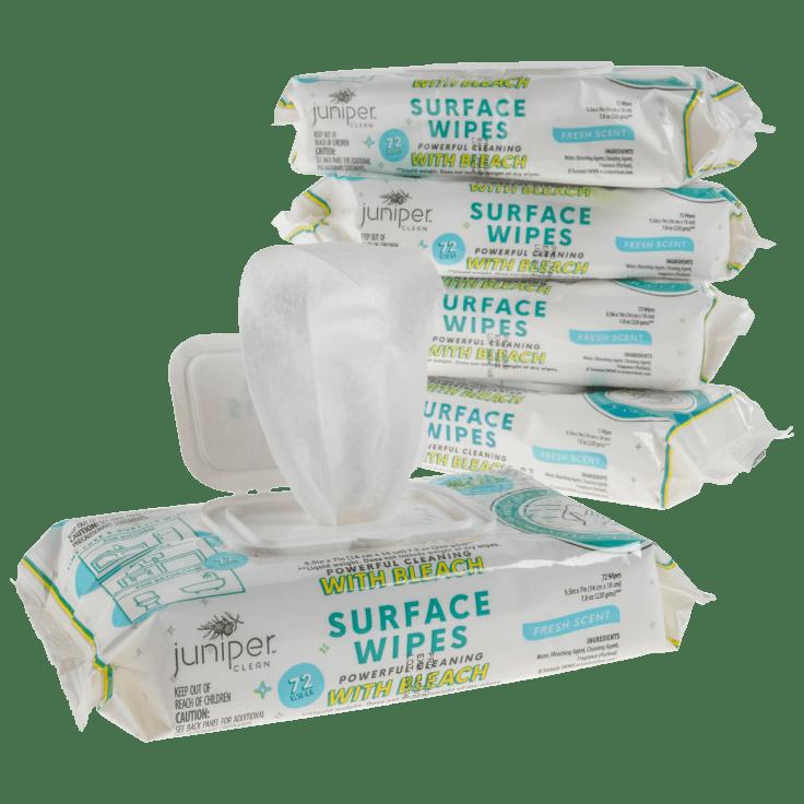 5-Pack Juniper Clean Multi-Surface Fresh Bleach Scent Wipes, 360 Count