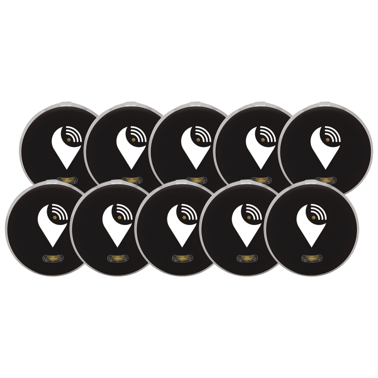 10-Pack TrackR Pixel Bluetooth Tracking Devices with Extra Batteries