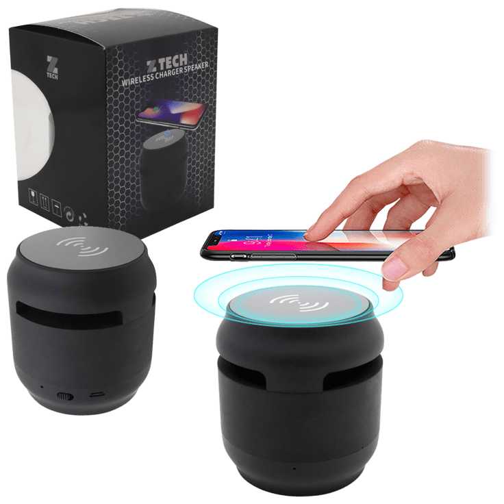 ZTech 2-in-1 Bluetooth Speaker and Wireless Charging Pad