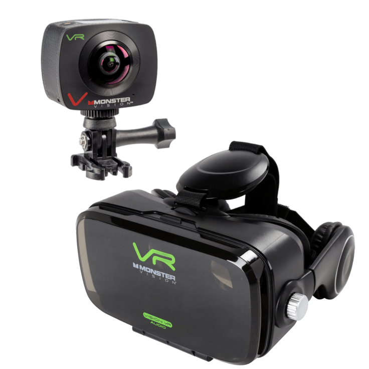 Monster Vision 360 Camera with VR Headset (w integrated audio)
