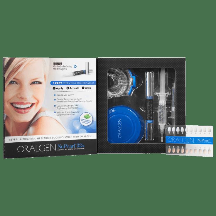 Oralgen Nupearl 32x Teeth Whitening Kit For Sensitive Teeth