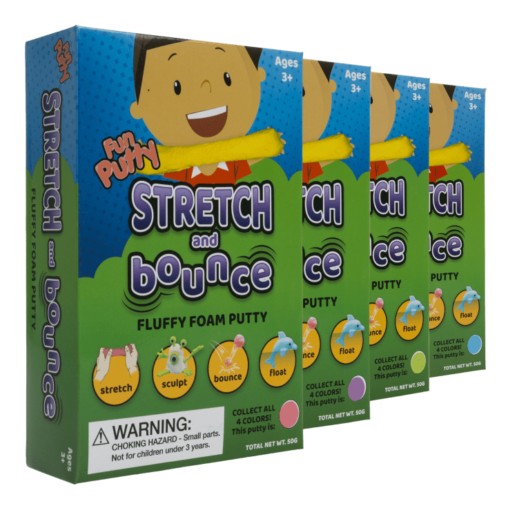 4-Pack Stretch & Bounce Putty