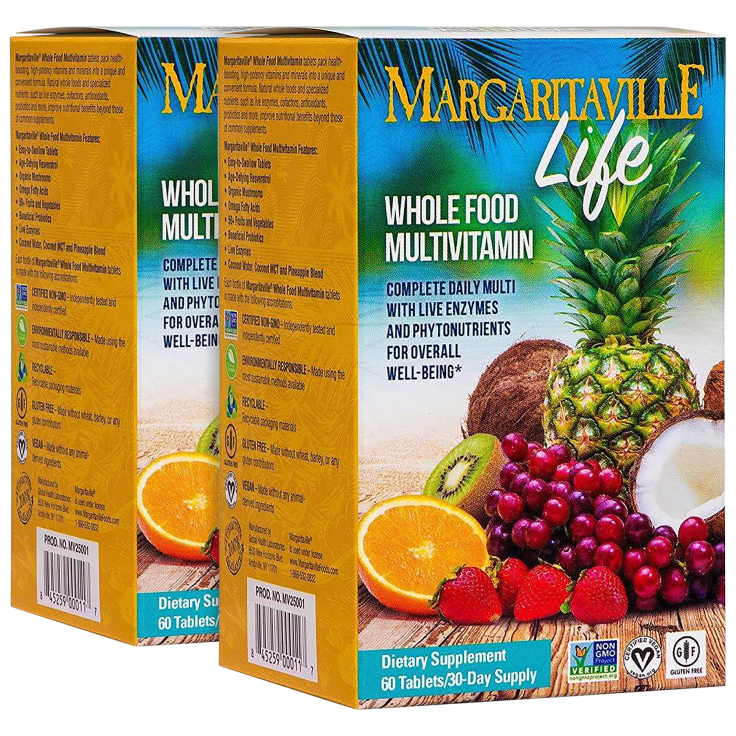 2-Pack Margaritaville Life Whole Foods Multivitamin Tablets