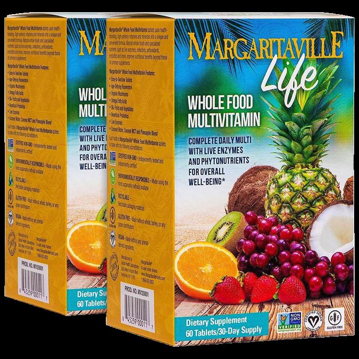 2-Pack Margaritaville Life Whole Foods Multivitamin Tablets