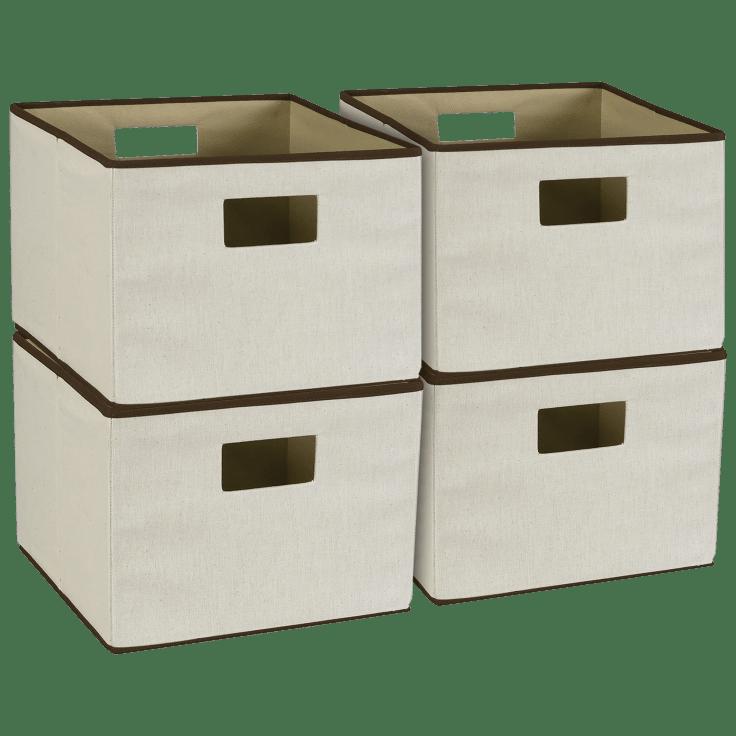 4-Pack Online Household Essentials Storage Bins with Handles