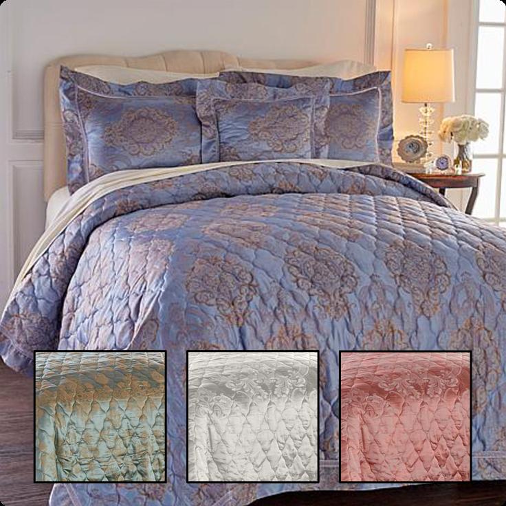 many colors Highgate Manor Damask 4-piece Sheet Set King