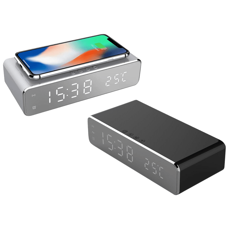 Alarm Clock with Qi Wireless Charger