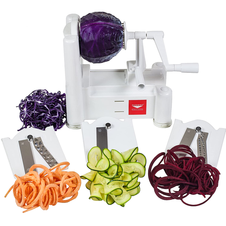 Paderno World Cuisine 6-Blade Vegetable Spiralizer & Slicer