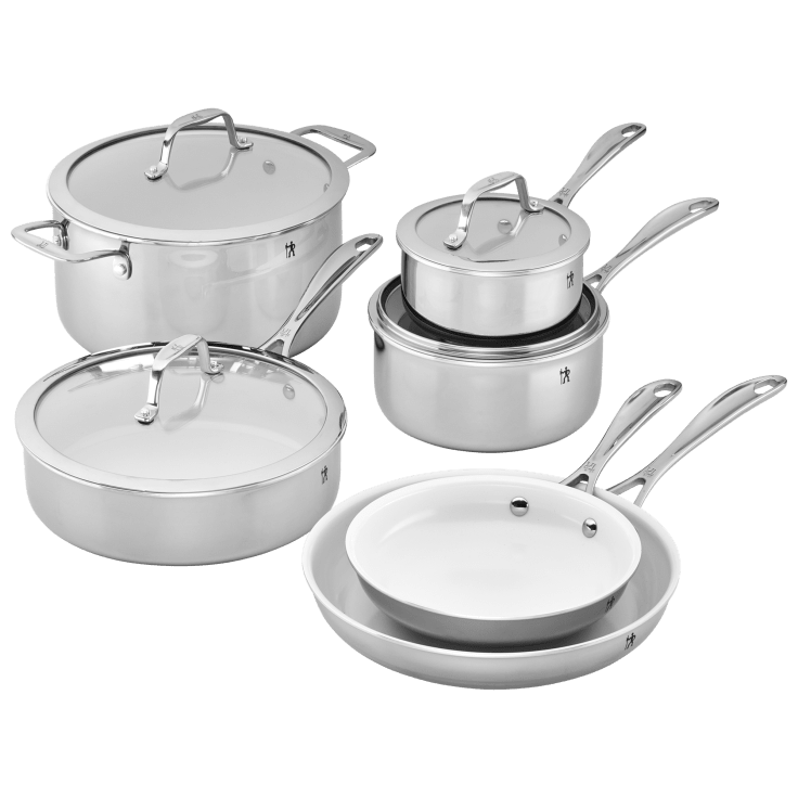 10-Piece J.A. Henckels Zwilling Spirit Stainless Steel Cookware Set