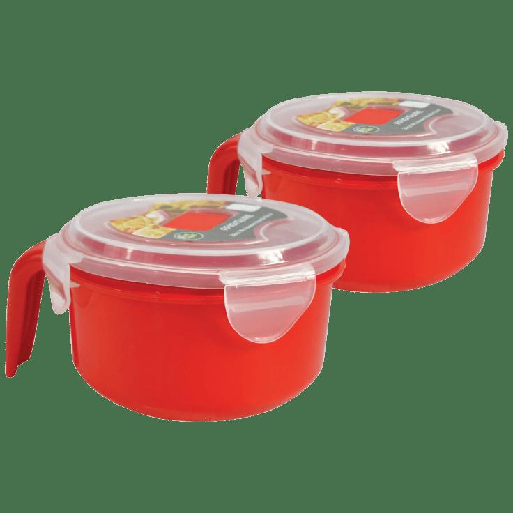 2-Pack Frigidaire 36oz Microwavable Noodle Bowls with Lids