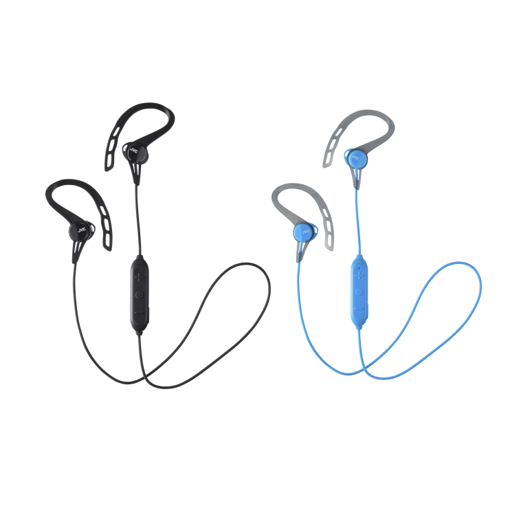 JVC Sweat Resistant Wireless Sport-Clip Headphones