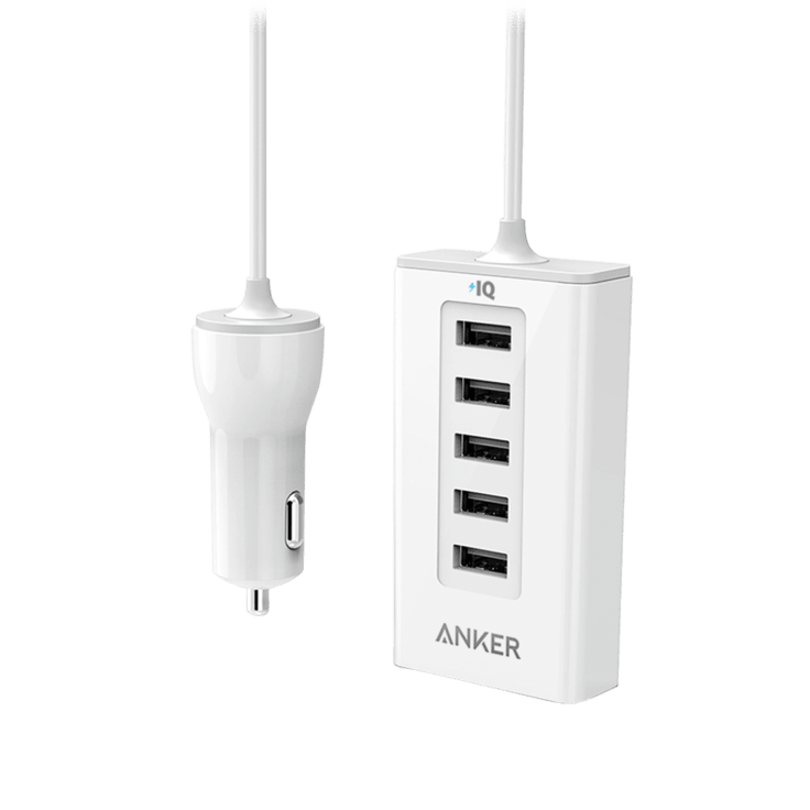 Anker 5-Port PowerDrive 50W Car Charging Station