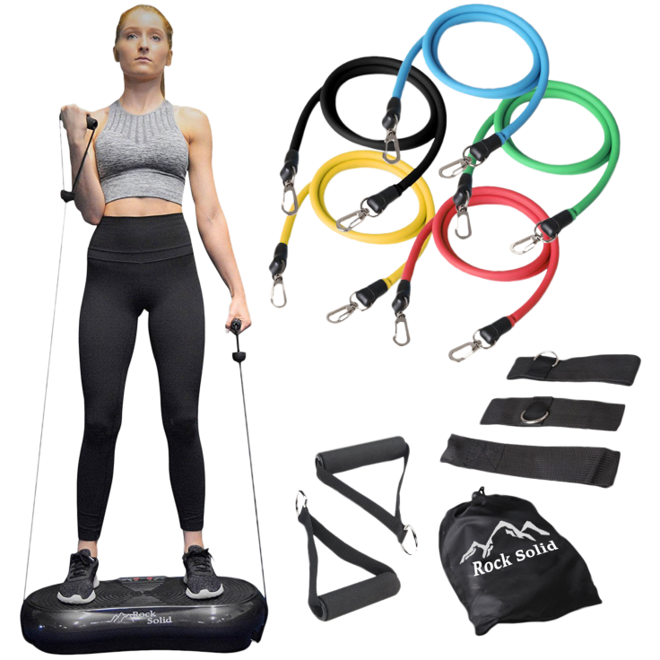 Rock Solid Fitness Whole Body Vibration Machine with Resistance Bands