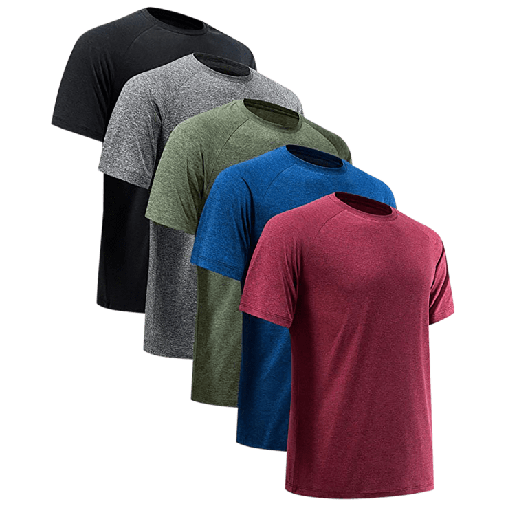 5-Pack Nextex Men's Active Athletic Dry-Fit Performance Tees