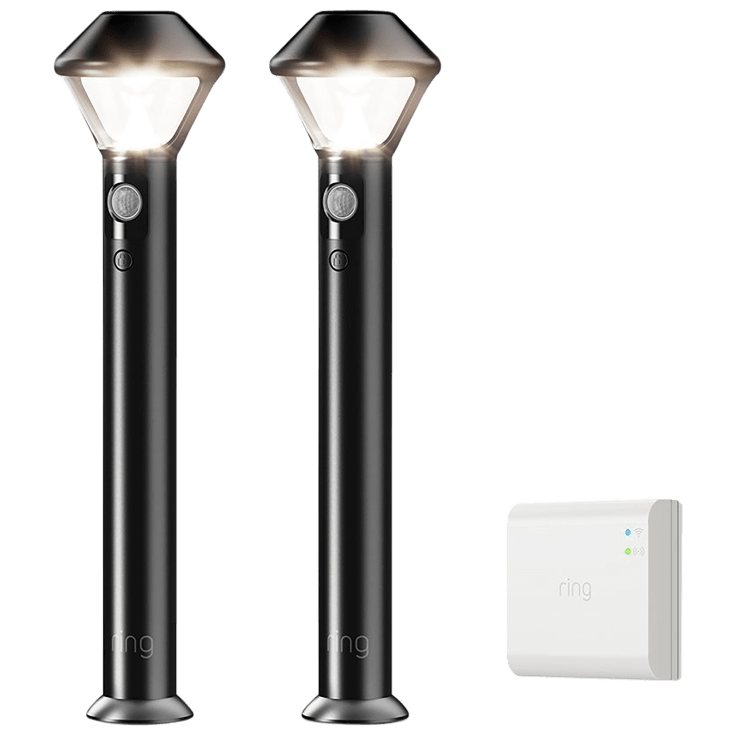 Ring LED Motion Activated Outdoor Battery Path Area Lights