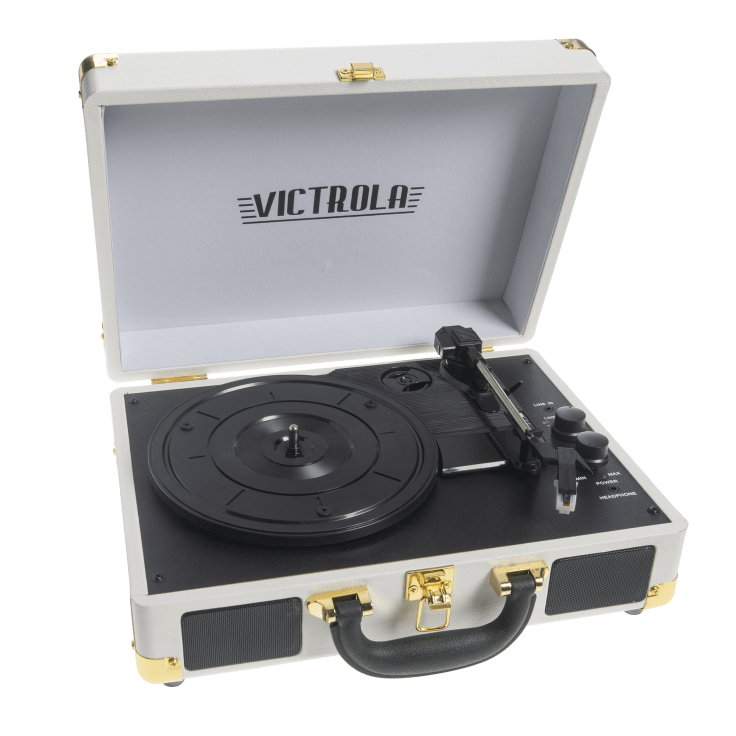 Victrola Bluetooth Portable Suitcase Record Player with 3