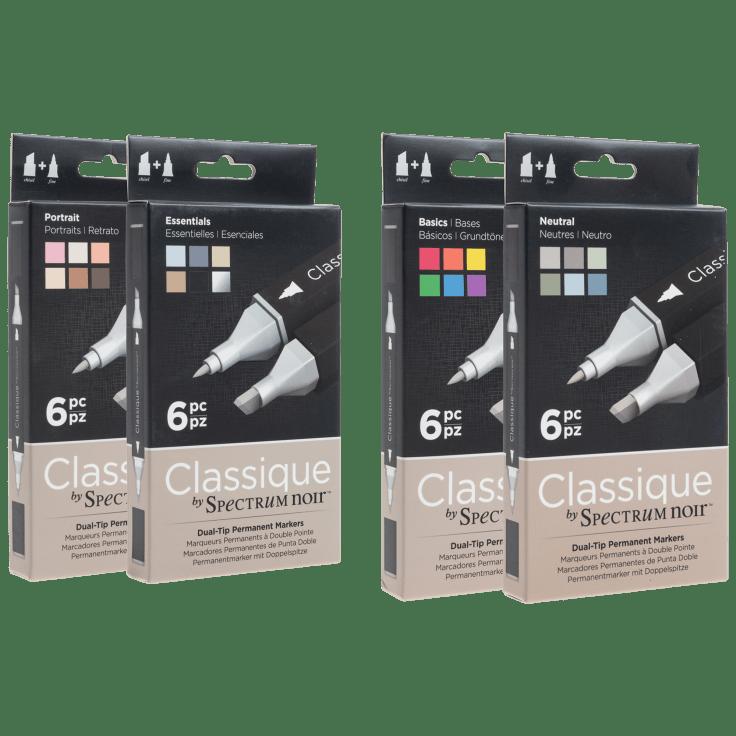 12-Pack Spectrum Noir Classique Twin Tip Alcohol Markers