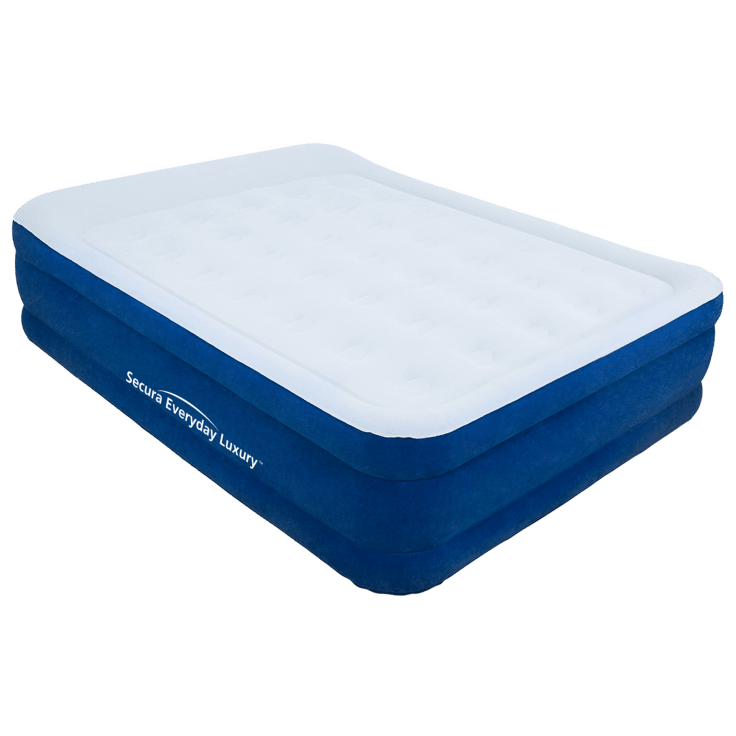 Secura Luxury Queen Puncture Resistant Air Mattress with Built-in Pump