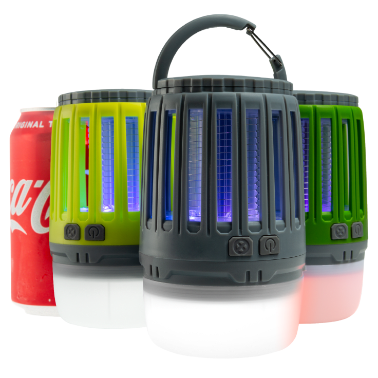 3 in 1 Waterproof Lantern Bug Zapper with Rechargeable Battery