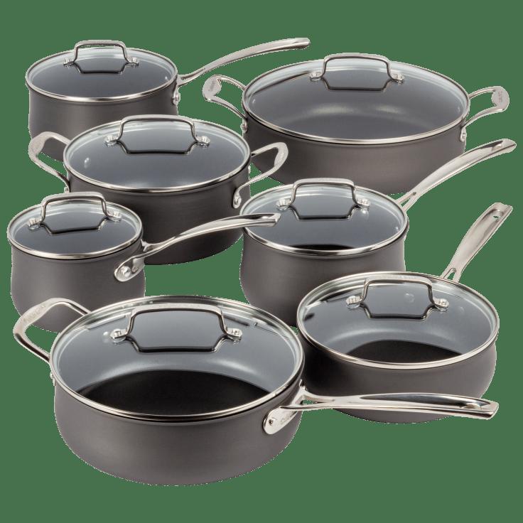 14-Piece Cuisinart Nonstick Hard-Anodized Cookware Set