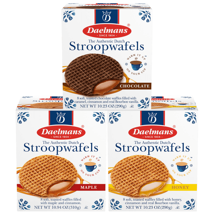 64-Pack Daelmans Jumbo Stroopwafels (Chocolate, Honey or Maple)
