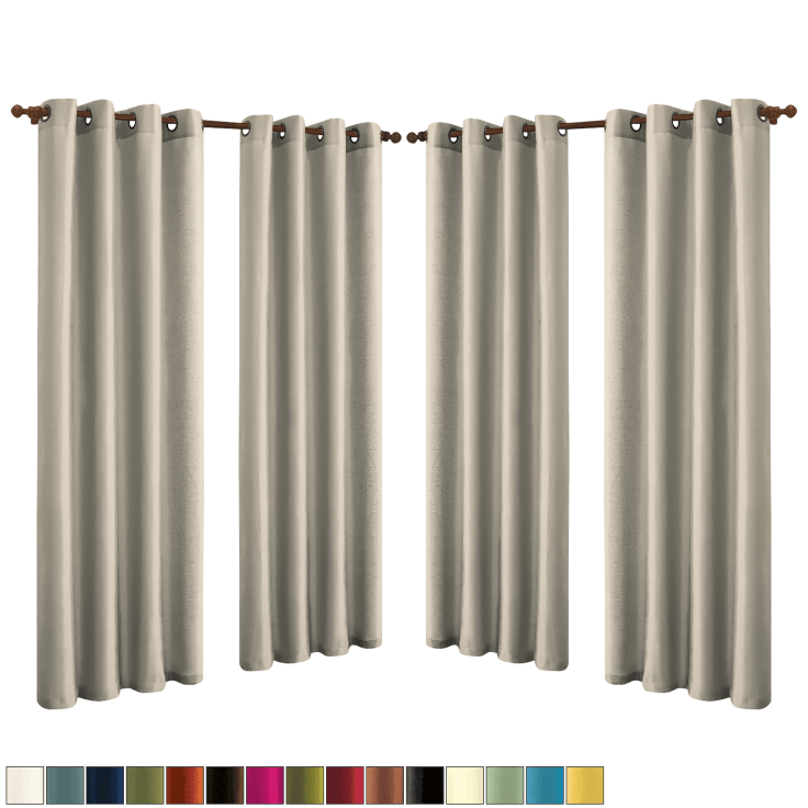 4-Pack JV Textiles Faux-Silk Panels with Grommets