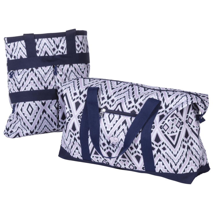 Ivory Ella by Conair Diamond Mosaic Work Tote & Weekender