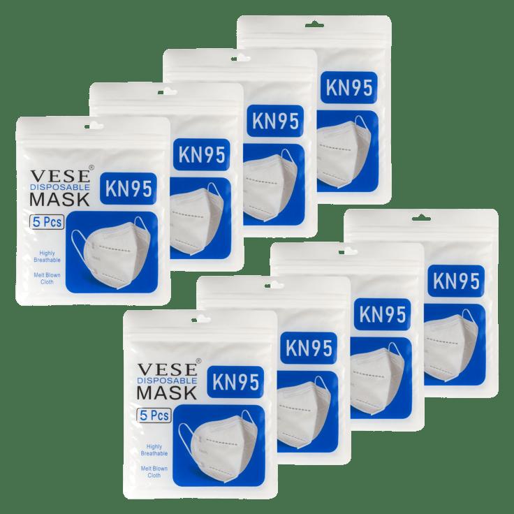 40-Pack Vese KN95 5-Layer Masks