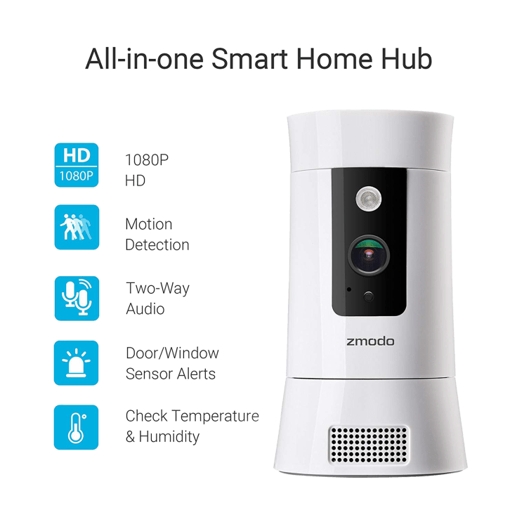 Zmodo Pivot Cloud 350° Rotating Smart WiFi Camera with Door