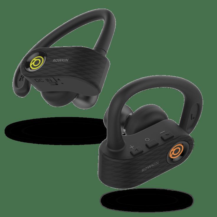 Mini Plus In-Ear Headphones 12 Black Ear tips Earbuds for ROWKIN Mini