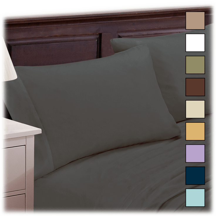 Luxury Home 4-Piece 1800 Series Rayon from Bamboo-Blend Sheet Set