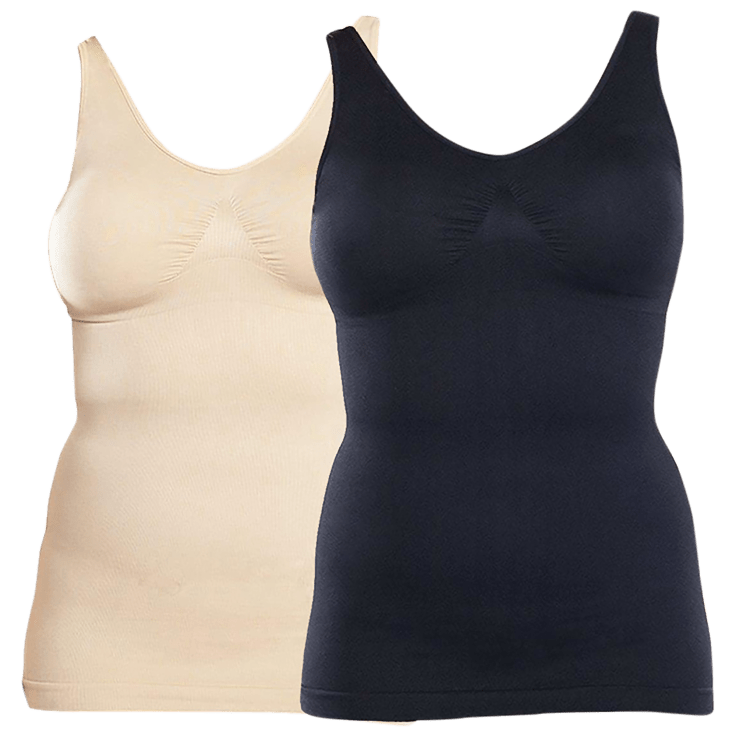 2-Pack Rhonda Shear Seamless Shaping Tanks