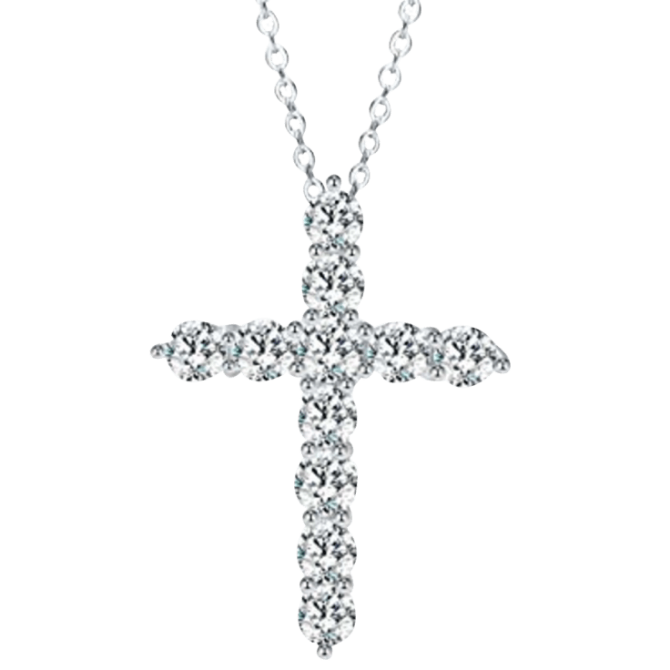Hollywood Sensation Enduring Faith Simulated Diamond Cross