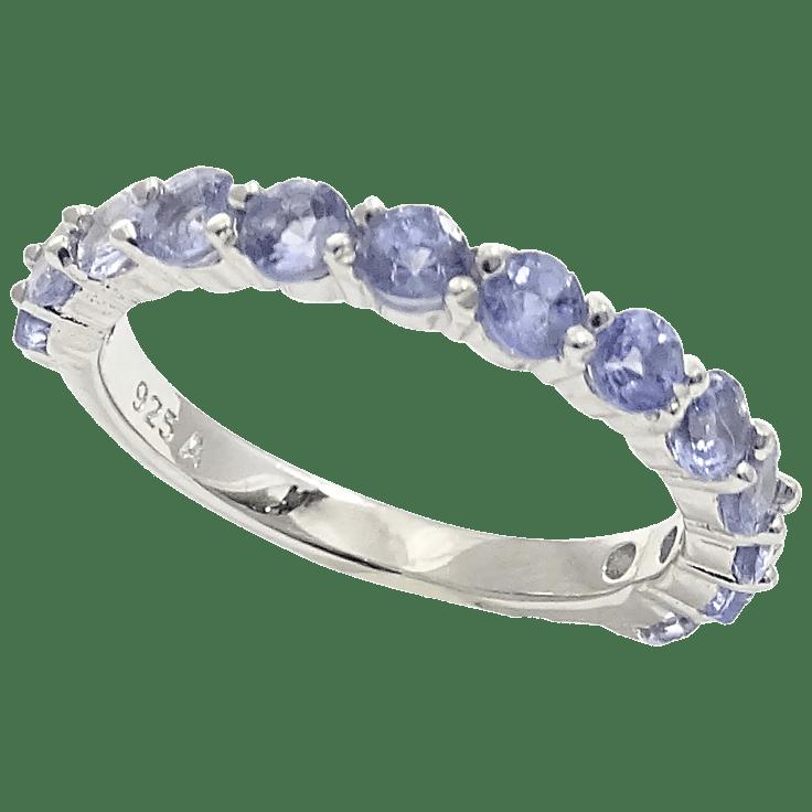 Savvy Cie Sterling Silver Genuine Tanzanite Ring
