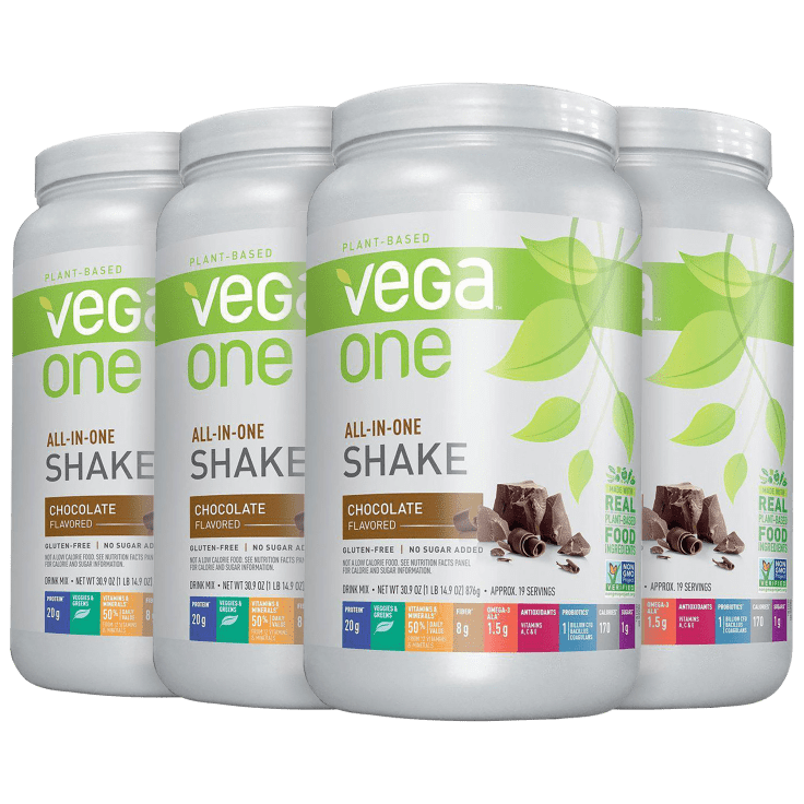 4-Pack Vega One All-In-One Meal Replacement & Protein Shake