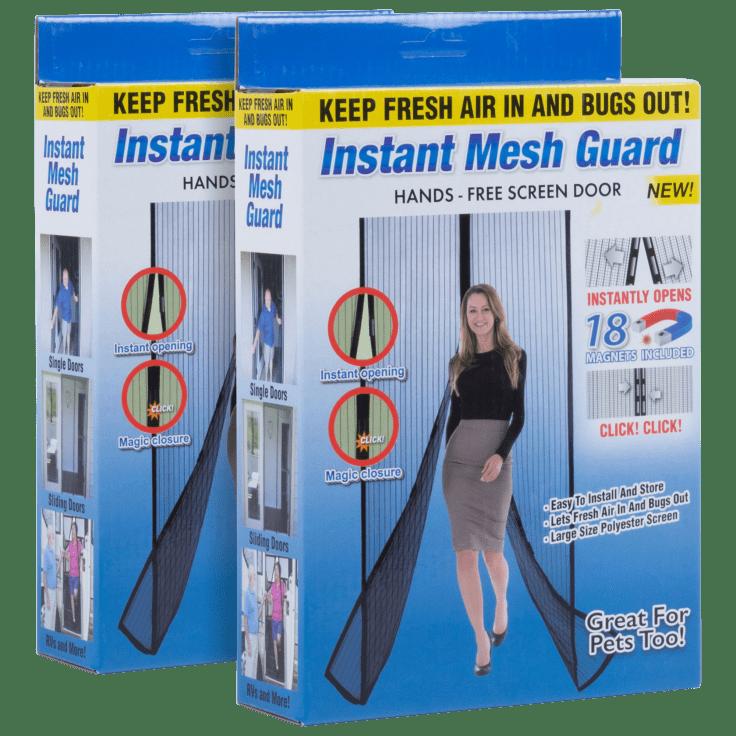 2-Pack Instant Mesh Guard Hands Free Screen Door