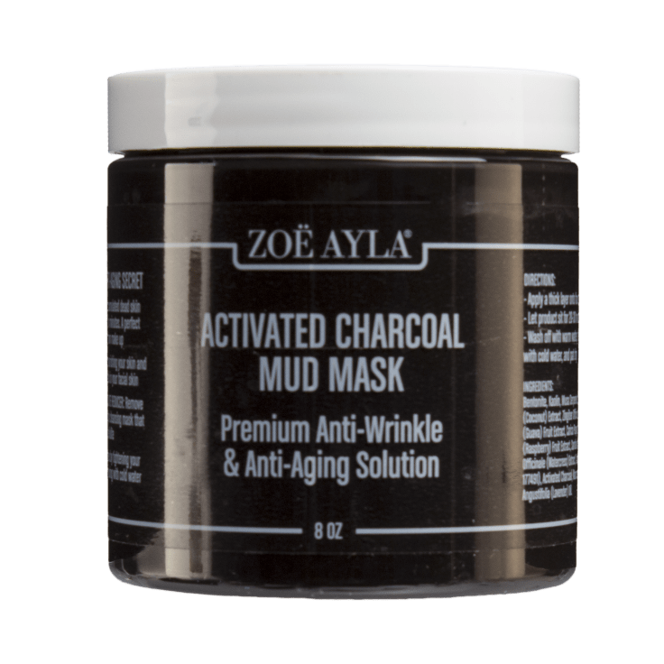 Zoe Ayla Activated Charcoal Mud Mask Premium Anti Wrinkle Anti