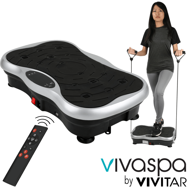 Vivaspa Full Body Vibration Machine w//Bluetooth Speaker /& Resistance Bands
