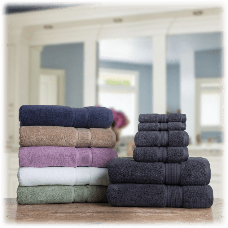 NEW! 100/% COTTON 2PK 30 in X 58 in EXPRESSION by Micro Cotton BATH TOWEL