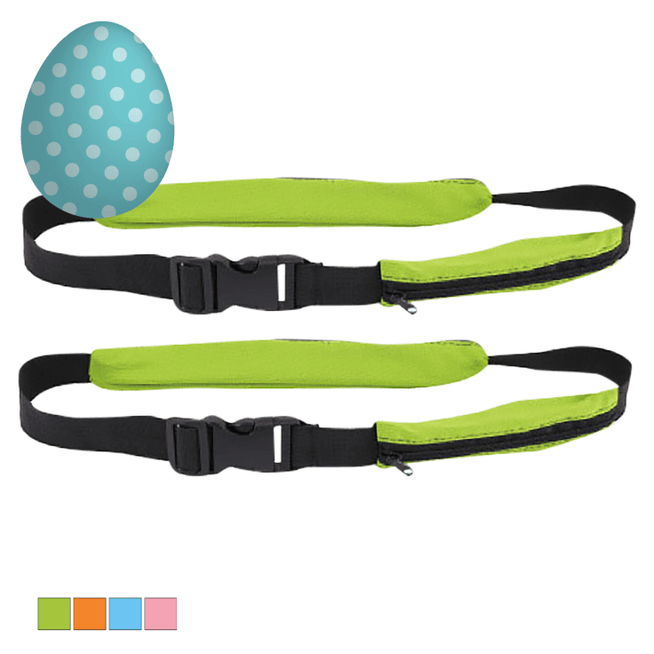 2-Pack Tekno Smart Belts with 2 Pockets (Assorted Colors)