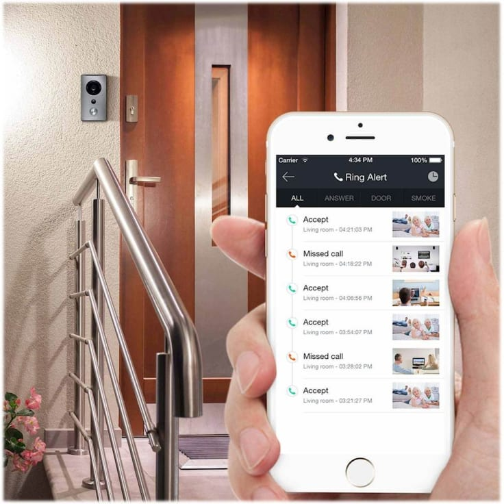 Zmodo Greet WiFi Video Doorbell with Beam Smart Home Hub and