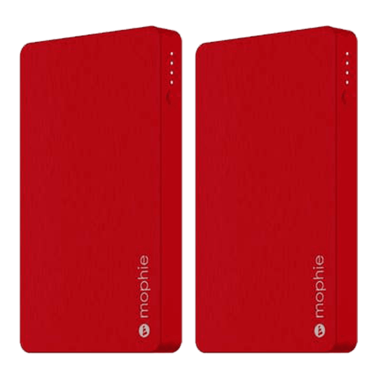 2-Pack Mophie Powerstation 5050mAh Power Banks with Lightning Port (Red)